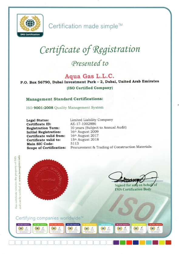 Certification – Aquagas Group Provides Advanced Piping Technology ...